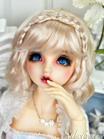 BJD Wig Girl Gold/Pink Hair...