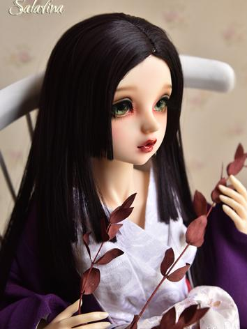 BJD Wig Girl Dark Brown Str...