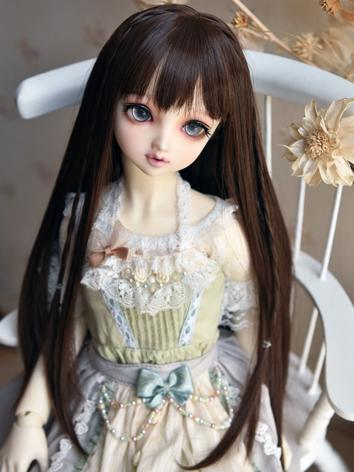 BJD Wig Girl Light Chocolat...
