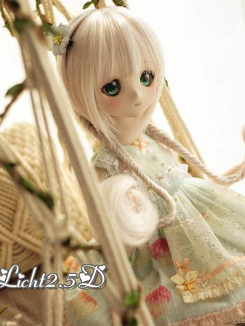BJD Wig Girl Gold Long Hair...