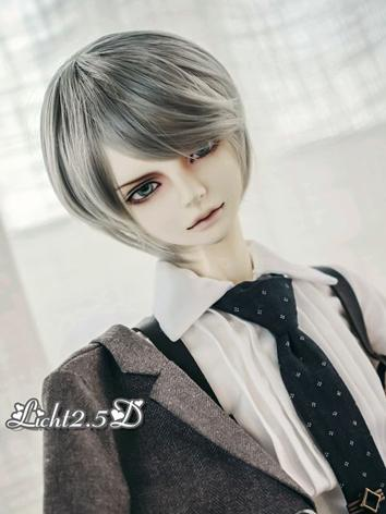 BJD Wig Boy Silver Short Ha...