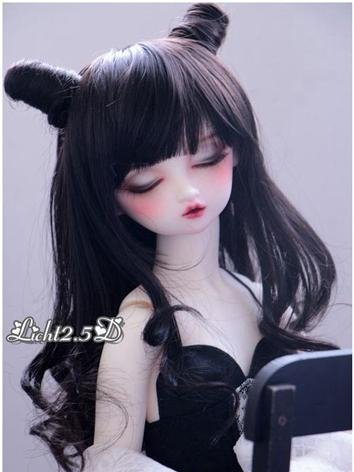 BJD Wig Girl Black Hair[374-375] for SD/MSD/YOSD Size Ball-jointed Doll