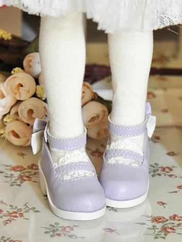 Bjd Shoes Female Purple Cut...