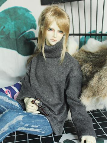BJD Clothes Boy/Girl Black High-neck Sweater Top for 70cm/SD/MSD Ball-jointed Doll