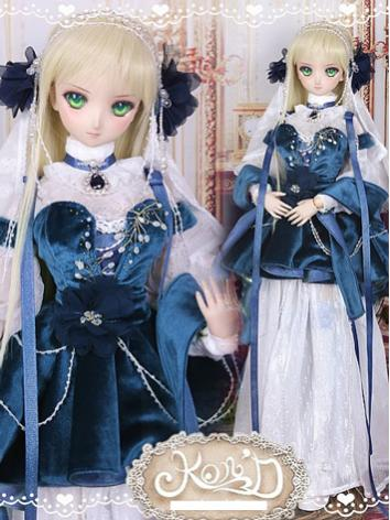 1/3 BJD Clothes Girl Blue S...
