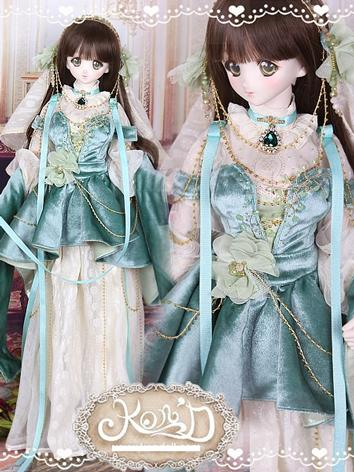 1/3 BJD Clothes Girl Green Suit for SD/DD size Ball-jointed Doll