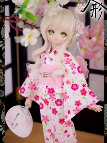 BJD Clothes Girl Pink Kimono Outfits Fit for DD/SD size Ball-jointed Doll