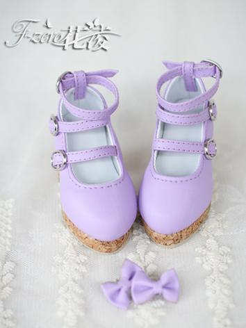 BJD 1/4 Shoes Girl Pink/Pur...
