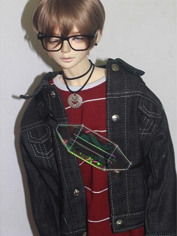 BJD Clothes Boy Black Jeans Coat Jacket for MSD/SD/SD17/70cm Ball-jointed Doll