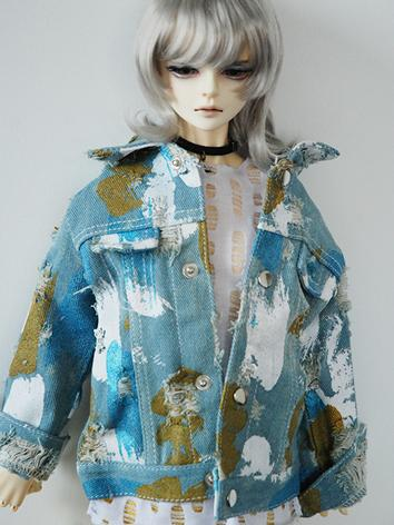 BJD Clothes Boy Jeans Coat Jacket for MSD/SD/SD17/70cm Ball-jointed Doll