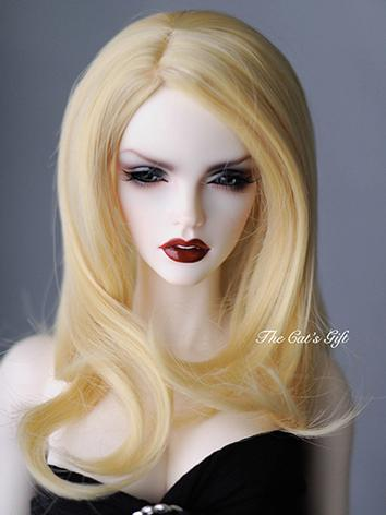 BJD Girl/Boy Gold Long Curl...