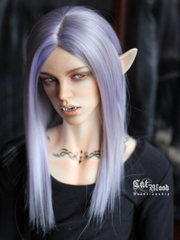 BJD Girl/Boy Purple Long St...