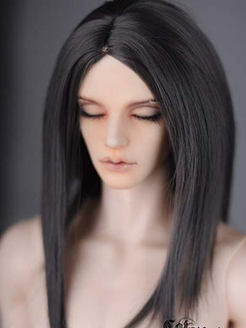 BJD Girl/Boy Black Long Str...