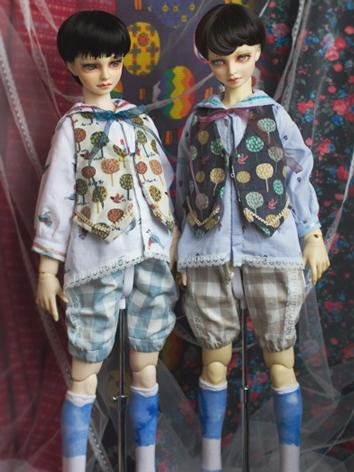 Bjd Clothes Boy Blue/White ...