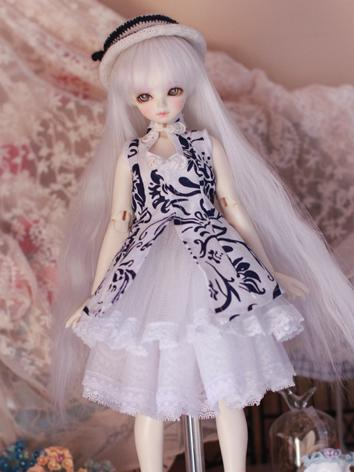 Bjd Clothes Girl White Dress 1/4 for MSD Ball-jointed Doll
