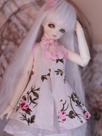 Bjd Clothes Girl White Dres...