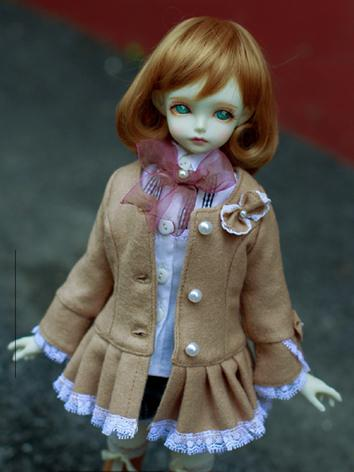Bjd Clothes Girl Brown Coat...