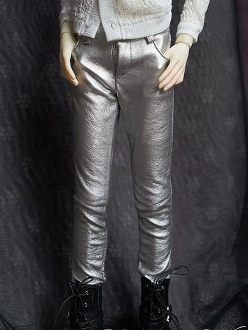 BJD Clothes Silver Trousers...
