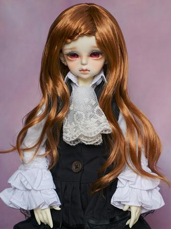 BJD Wig 1/3 1/4 Female Gold Princess Hair Wig for SD/MSD Size Ball-jointed Doll
