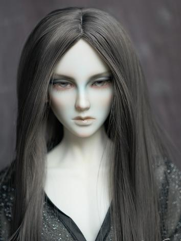 BJD Gray Long Wig for SD/MSD Size Ball-jointed Doll