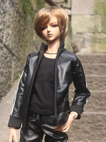 BJD Clothes Black Jacket Fi...