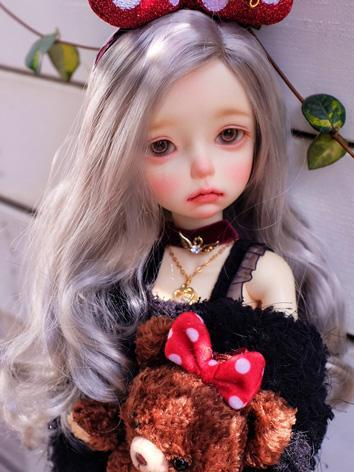 BJD Wig Girl Gray Long Hair...