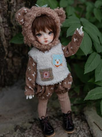 BJD Clothes Girl Coat Suit for YOSD Ball-jointed Doll