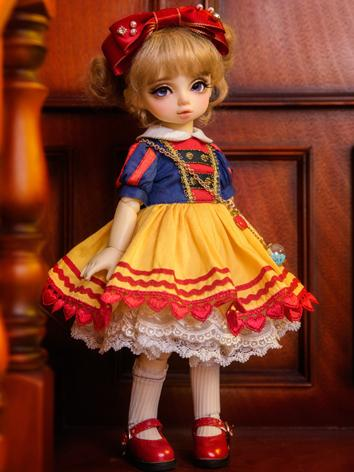BJD Clothes Girl Blue&Yellow Dress Suit for YOSD Ball-jointed Doll