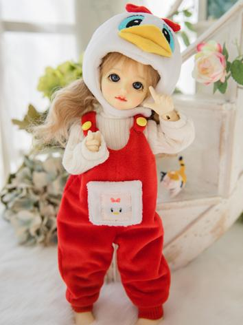 BJD Clothes Girl Red Coat for YOSD Ball-jointed Doll