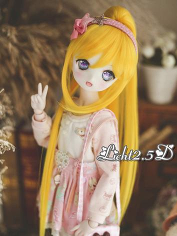 BJD Wig Girl Yellow Long Ha...