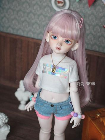 BJD Wig Pink Long Straight ...