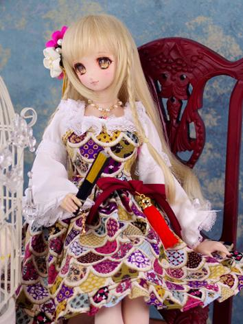 BJD Clothes Girl Kimono Out...