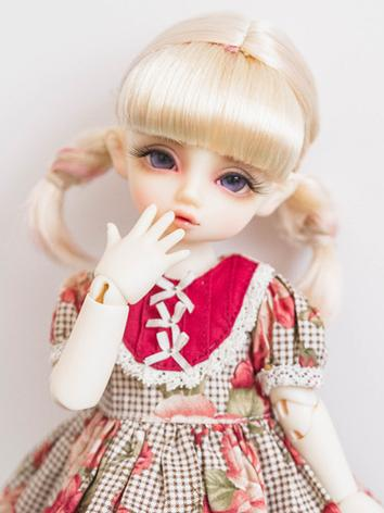 BJD Wig Girl Light Gold Hair Wig for MSD/YOSD Size Ball-jointed Doll