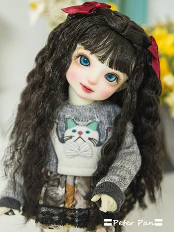 BJD Wig Girl Chocolate Hair Wig for SD/MSD/ 1/8 Size Ball-jointed Doll