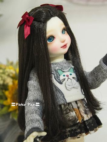 BJD Wig Girl Chocolate Hair...
