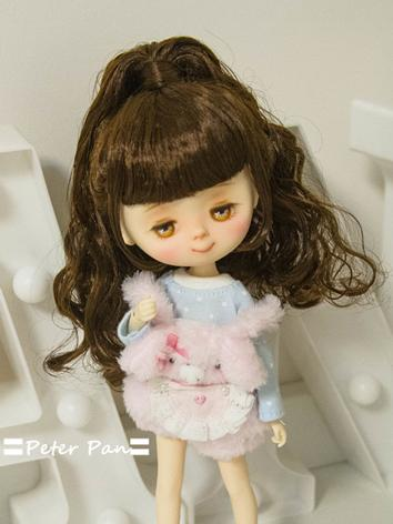 BJD Wig Girl Chocolate Hair Wig for SD/MSD/YOSD/ Size Ball-jointed Doll