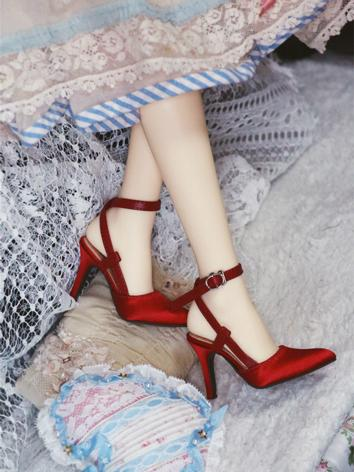 BJD Shoes Red/Blue/Champagn...
