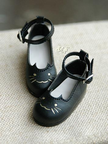 BJD Shoes Black Flat Shoes ...