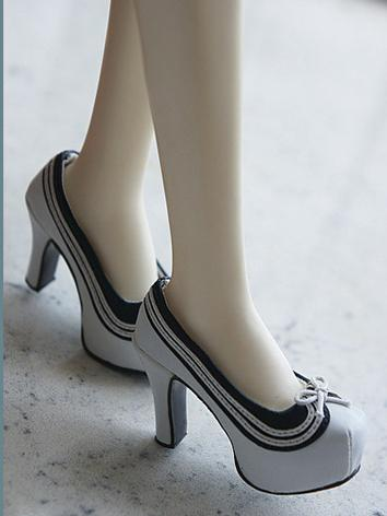 BJD Shoes Black/White/Pink ...