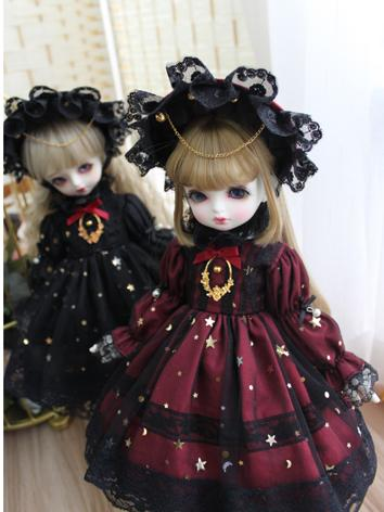 BJD Clothes Girl Wine/Black...
