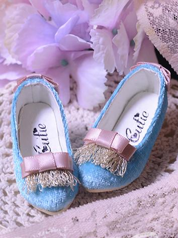 Bjd Shoes 1/4 Girl Blue Highheels Shoes for MSD Size Ball-jointed Doll