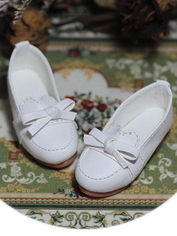 Bjd Shoes 1/3 1/4 Girl Students White Shoes for MSD/SD Size Ball-jointed Doll