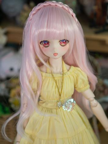 BJD Wig Girl Pink Long Hair...