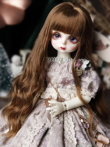 BJD Wig Girl Brown Long Hair Wig for YOSD Size Ball-jointed Doll