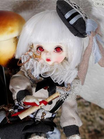 BJD Wig Boy/Girl White Shor...
