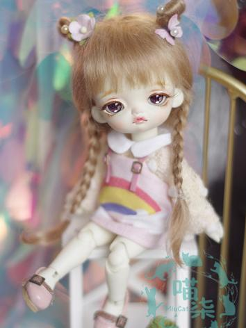 BJD Wig Girl Brown Wig Hair...