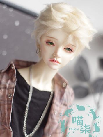 BJD Wig Boy Light Gold Wig ...