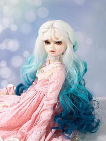 BJD Wig Girl Colourful Curl...