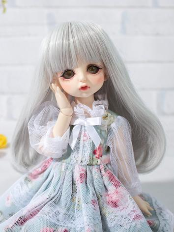 BJD Wig Girl Silver Long Hair for MSD/YOSD/SD Size Ball-jointed Doll