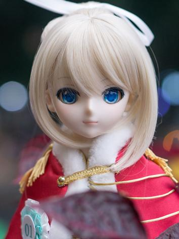 BJD Wig Girl Chocolate/Red&...
